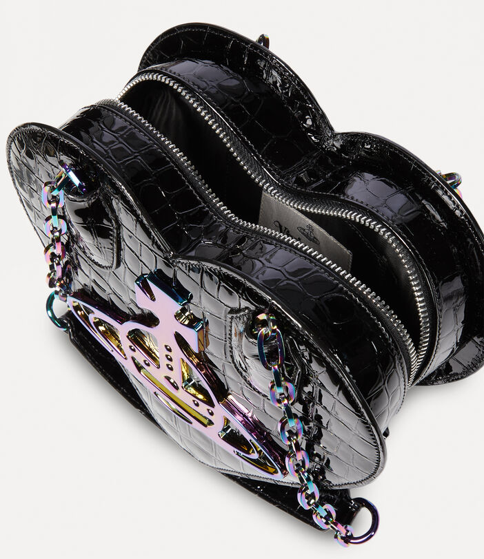 Archive Orb Heart Handbag Black/Iridescent 4