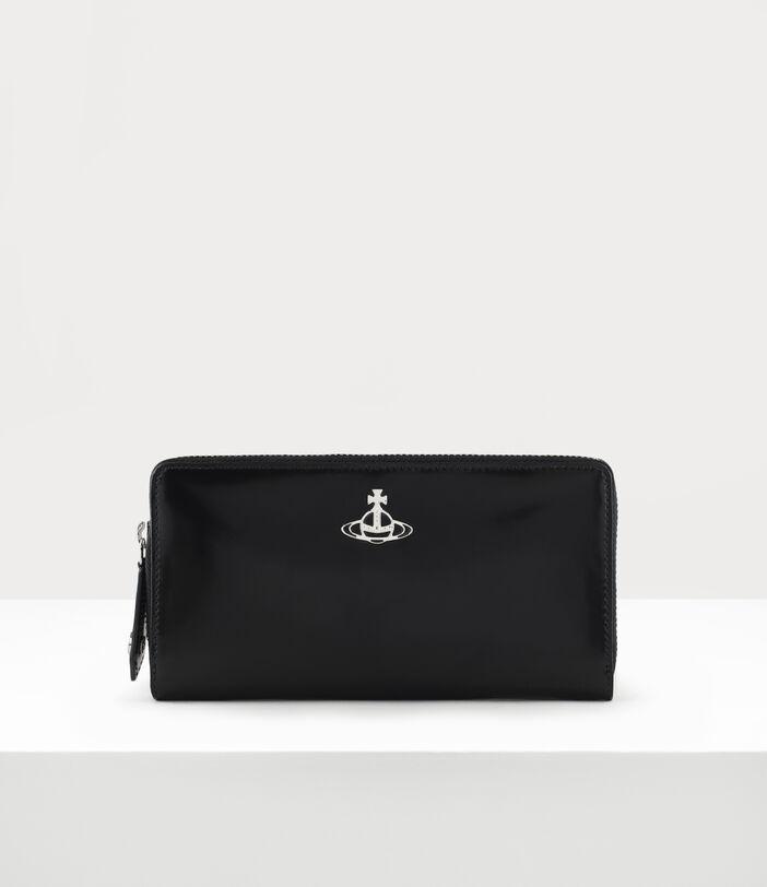 Alice Zip Round Wallet Black 1
