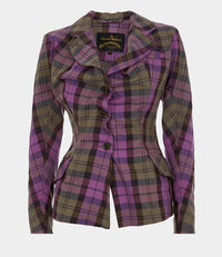 Alcoholic Fitted Jacket Pink Tartan