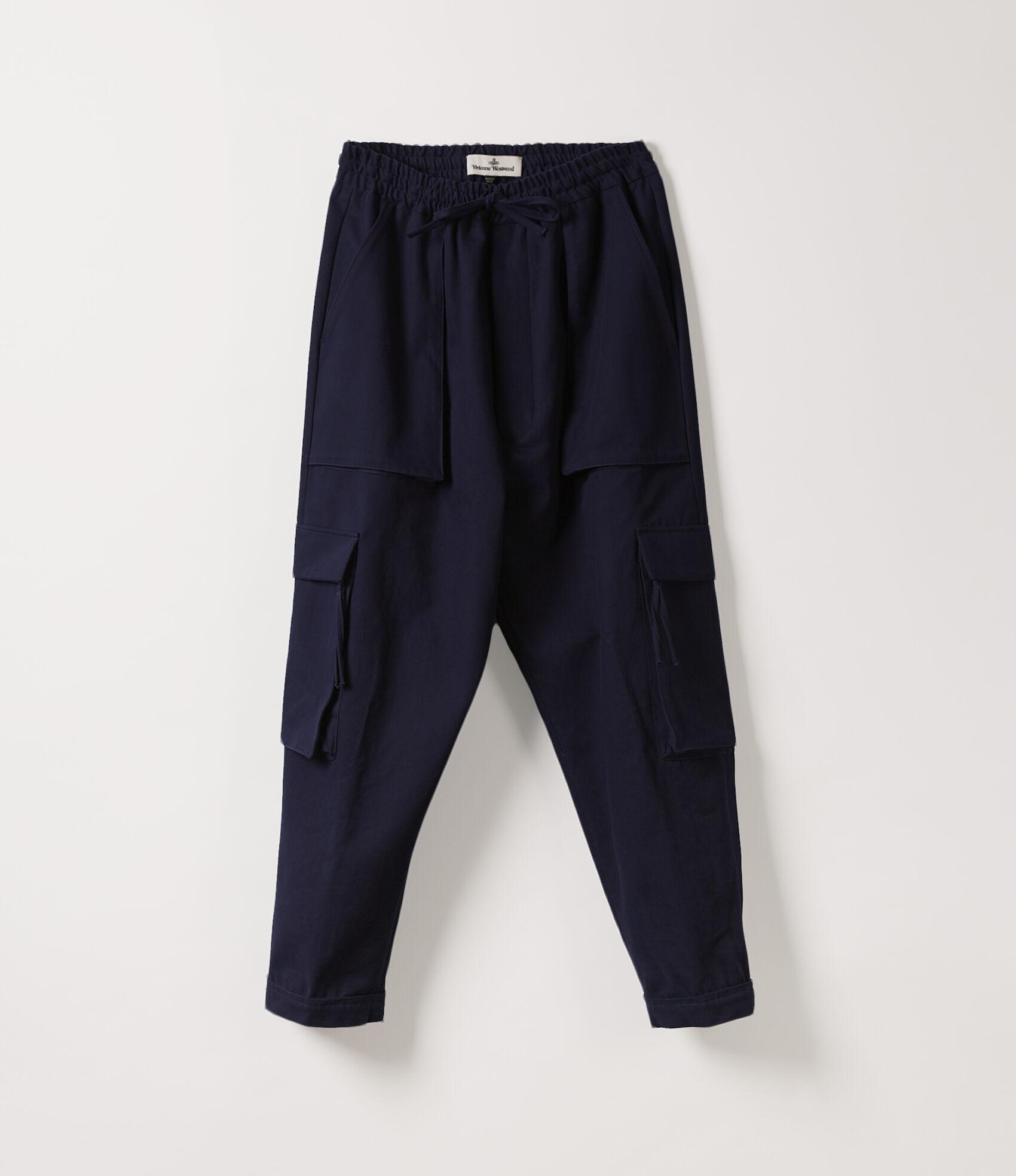 Vivienne Westwood Men's Designer Trousers Men | Vivienne Westwood - Django  Cargo Pants Navy