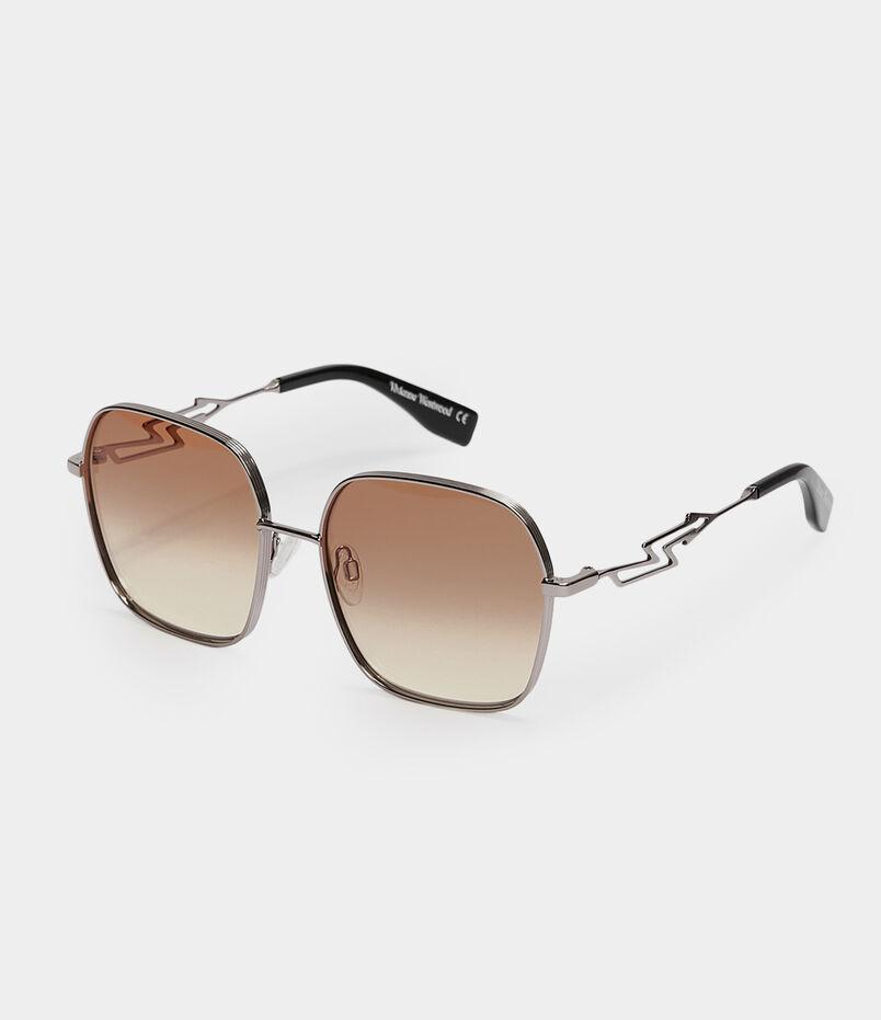 6a866dc22f8 Oversized Square-Frame Sunglasses Gunmetal Orange