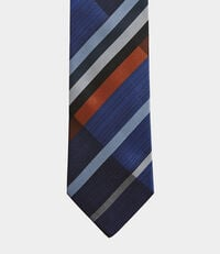 Tartan Tie Blue