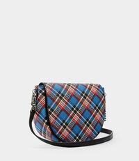 Shuka Tartan Shoulder Bag Blue