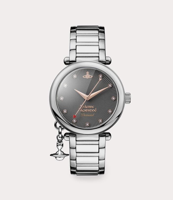 Orb Diamond Watch Silver Tone 1