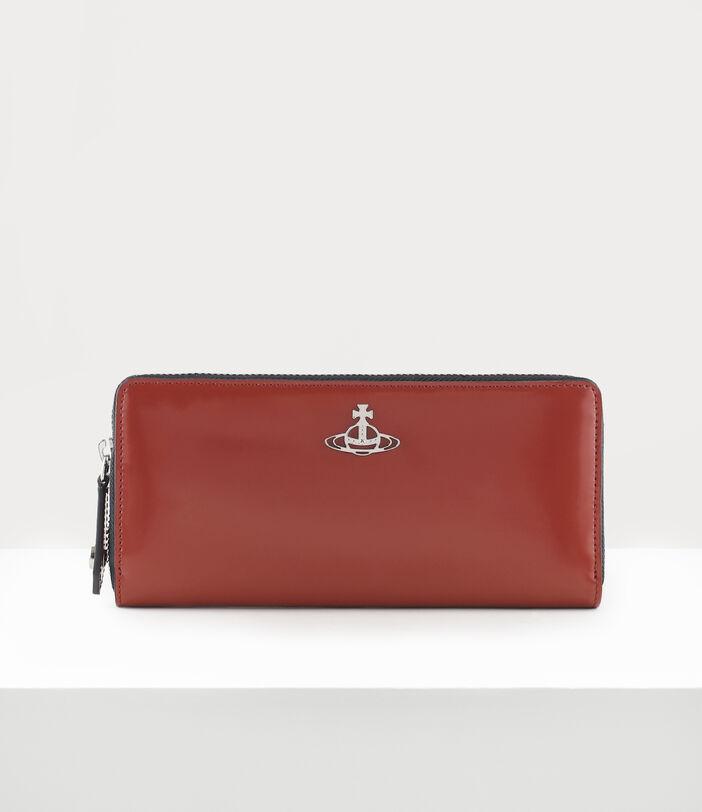 Alice Zip Round Wallet Dark Red 1