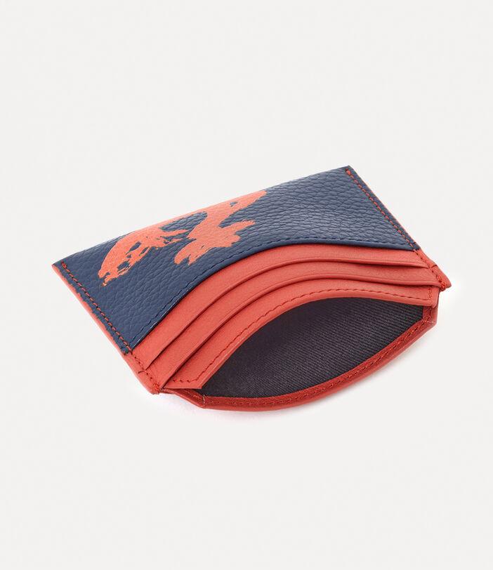 Melih Slim Card Holder Navy/ Orange 4