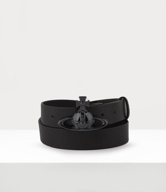 Belts Orb Buckle Gun Metal Belt Black 1