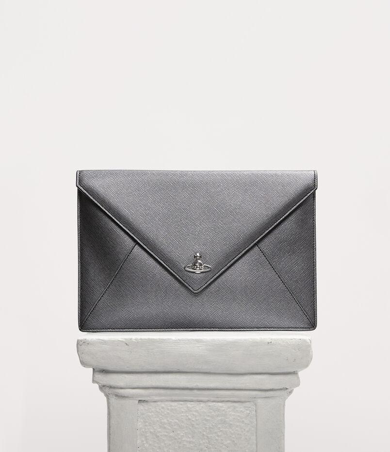 fd7c58d0bb40 Victoria Envelope Clutch Anthracite