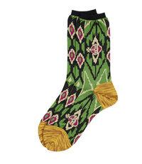 Ikat Socks Green