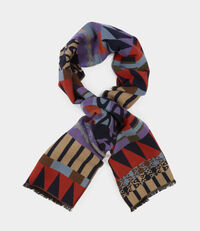 Multi-Striped Scarf Navy