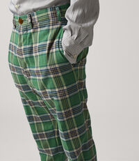James Bond Cropped Trousers Green Check