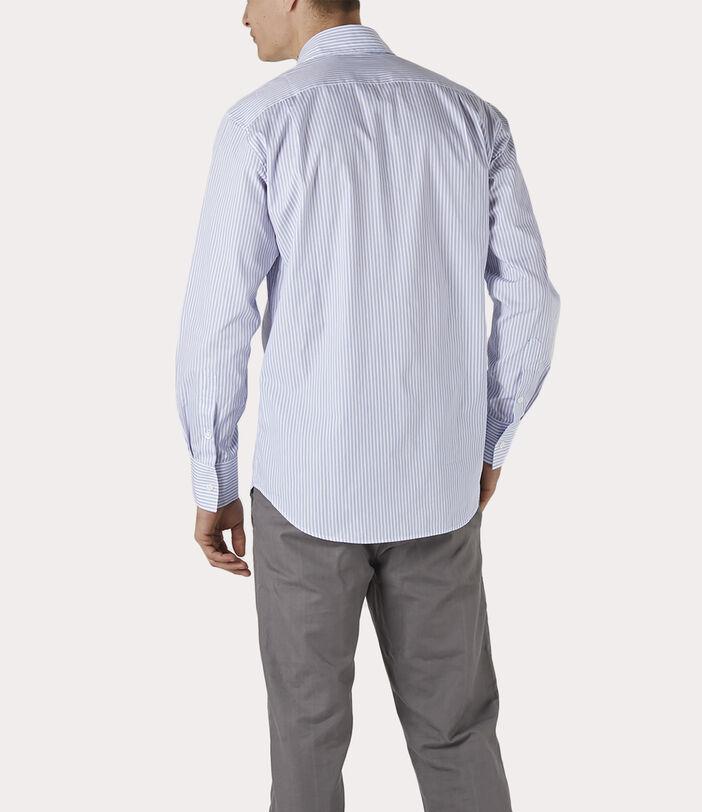 New Cutaway Shirt Blue Stripe 4