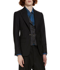 Waistcoat Jacket Morning Stripe Black