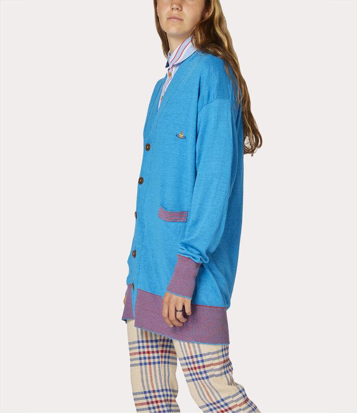 Polo Cardigan Turquoise 3