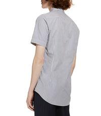 Classic Short Sleeved Shirt Hickory Stripe White/Blue