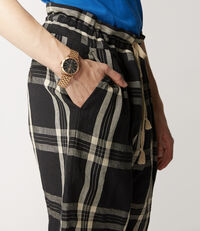 Samurai Shorts Black/White Tartan