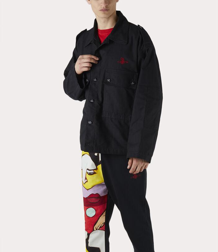 Ben Overshirt Black Check Herringbone 9