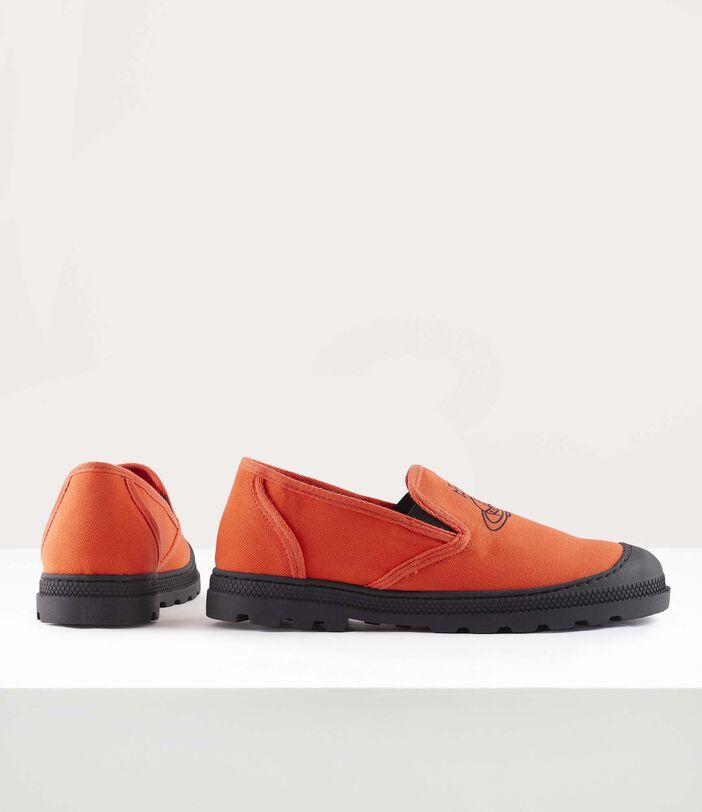 Men'S Simian Slip Ons Orange 3