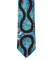 Squiggle Print Tie Petrol