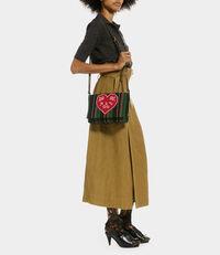 Robin Stripes Beaded Shoulder Bag