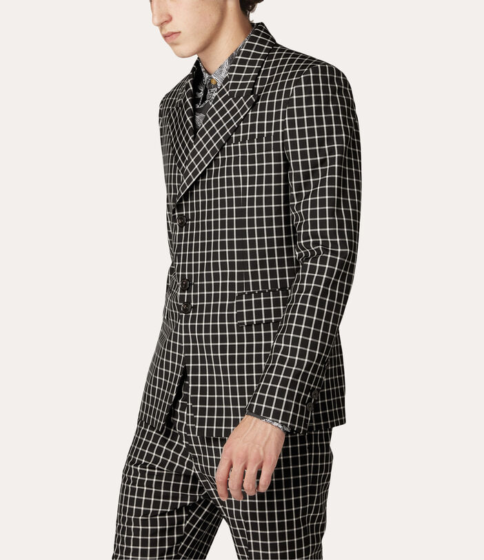 Peacock Jacket Black Small Check 3