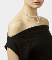 One Row Pearl Drop Choker