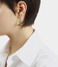Paisley Orb Earrings Gold Tone