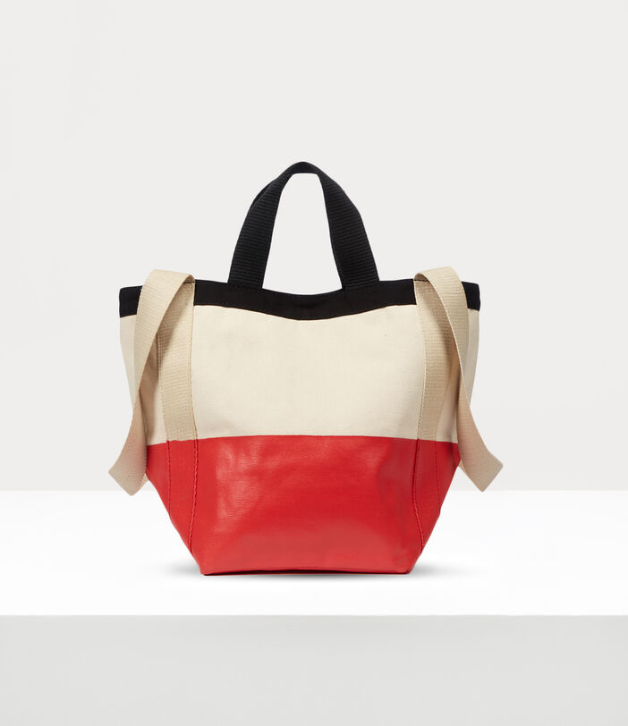Worker Small Runner Holdall Red/Beige 4