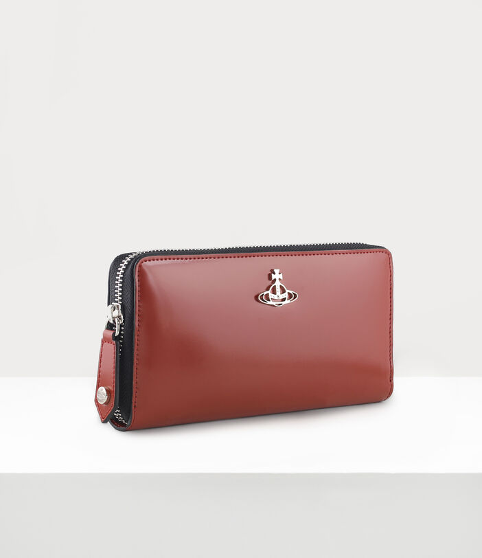 Alice Zip Round Wallet Dark Red 2