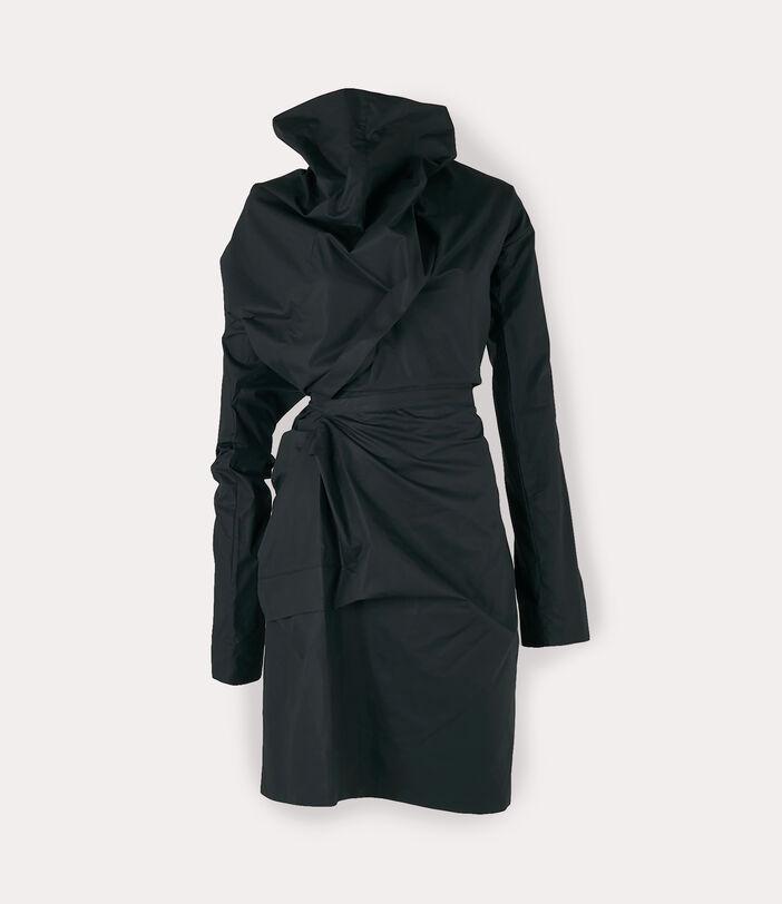 Long-Sleeve Cliff Dress Black 1