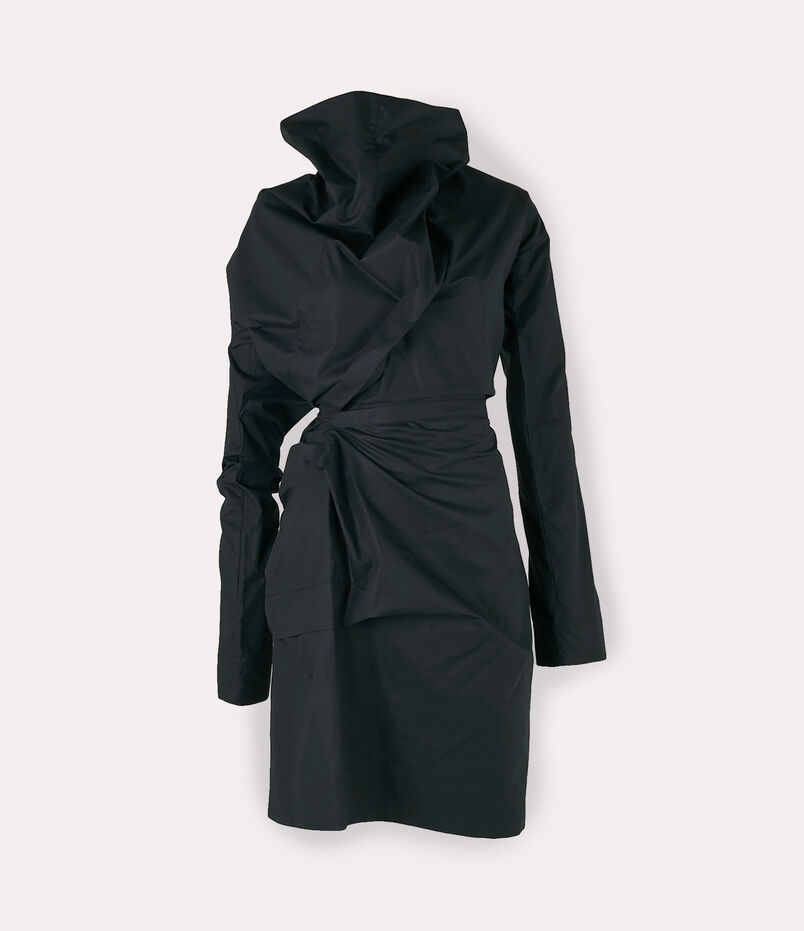 Long-Sleeve Cliff Dress Black