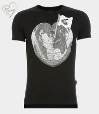 Classic T-Shirt Heart World T-Shirt Black