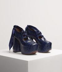 Naomi Ghillie Platforms Blue Crocodile