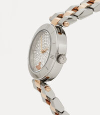Westbourne Stone Watch Silver Rose