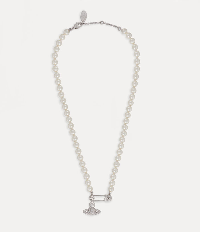 Lucrece Pearl Necklace Silver-Tone 2