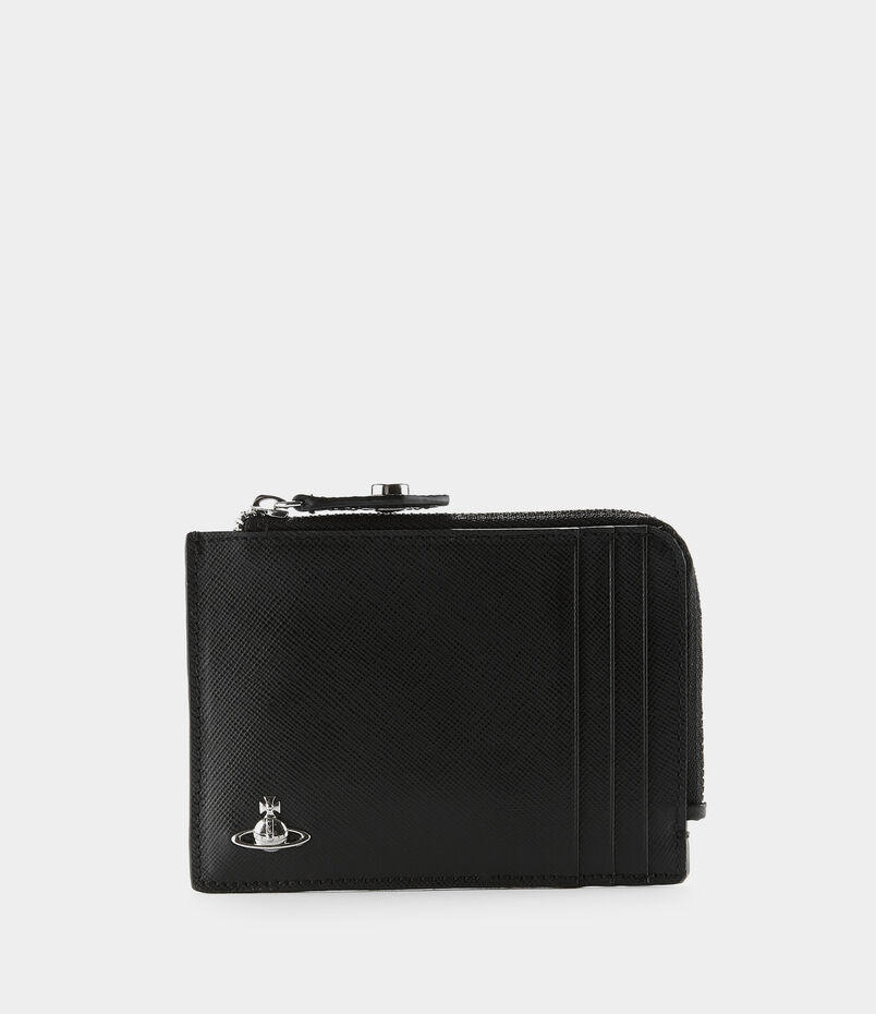 Kent Zip Card Holder Black