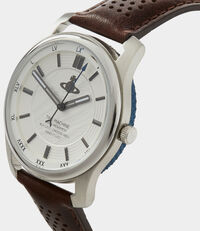 Holborn II Watch Silver/Brown
