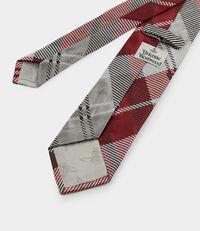 Tartan Jacquard Tie Red