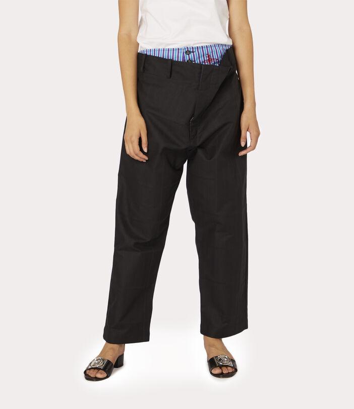 Alien Trousers Black Check Herringbone 3