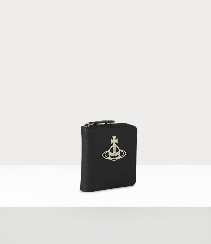 Kent Rounded Square Wallet Black 2