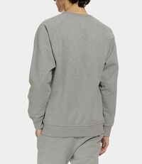 Classic Sweatshirt with Patch Grey