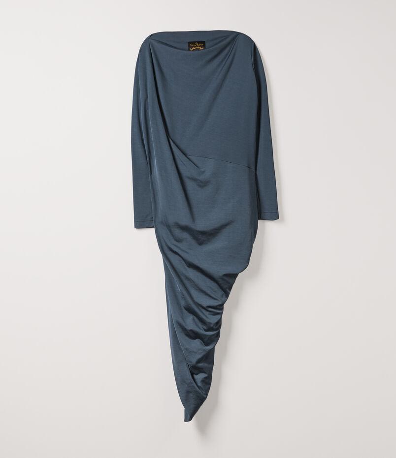Long Sleeve Vian Dress Blue 53174c7f1