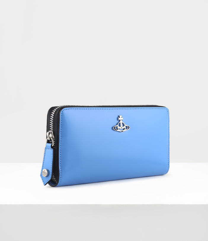 Alice Zip Round Wallet Blue 2