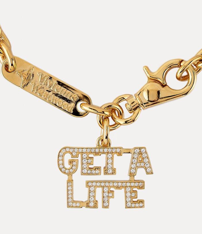 Get A Life Large Pendant Gold-Tone 2