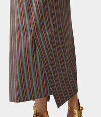 Midi Infinity Skirt Fancy Stripes