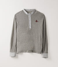 Overlock Top Long Sleeve Brown