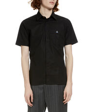 Classic Stretch Short Sleeved Shirt Black