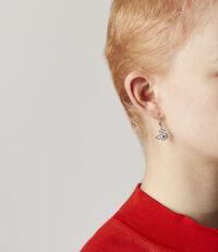 Valentina Drop Earrings Silver Tone