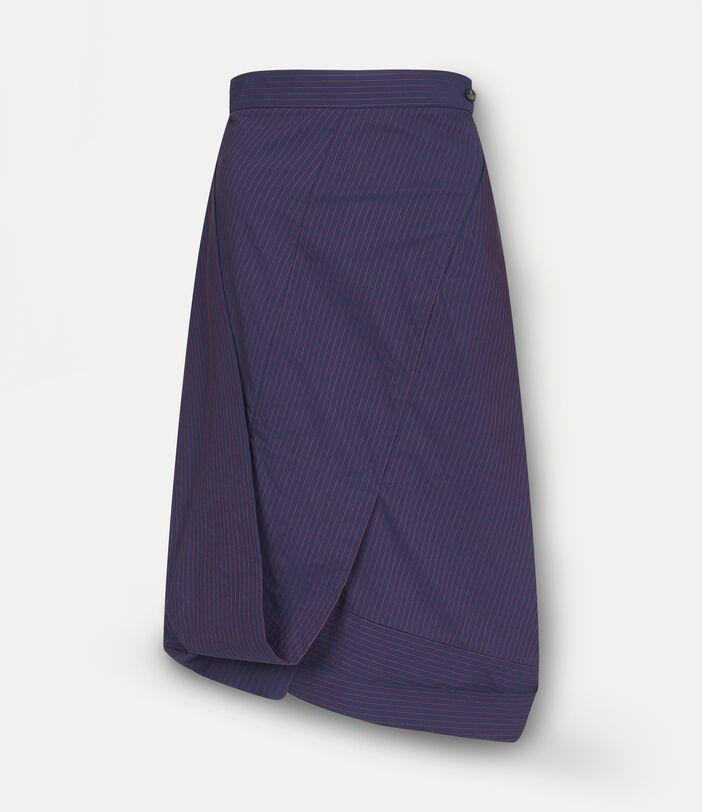 Amnesia Midi Skirt Navy 1