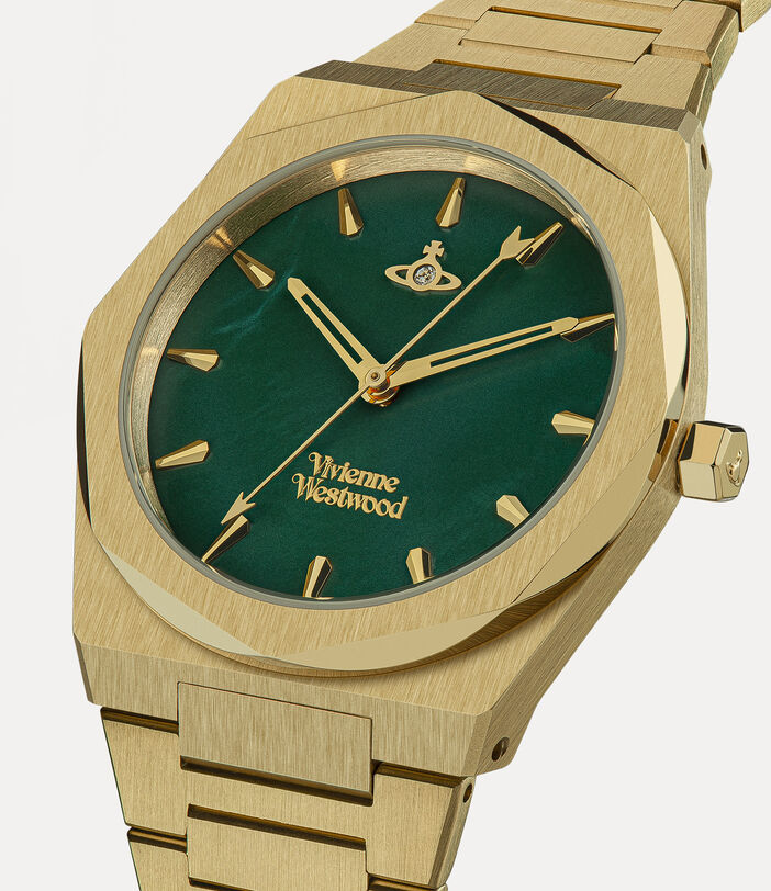 Limehouse Watch Green/Gold 2